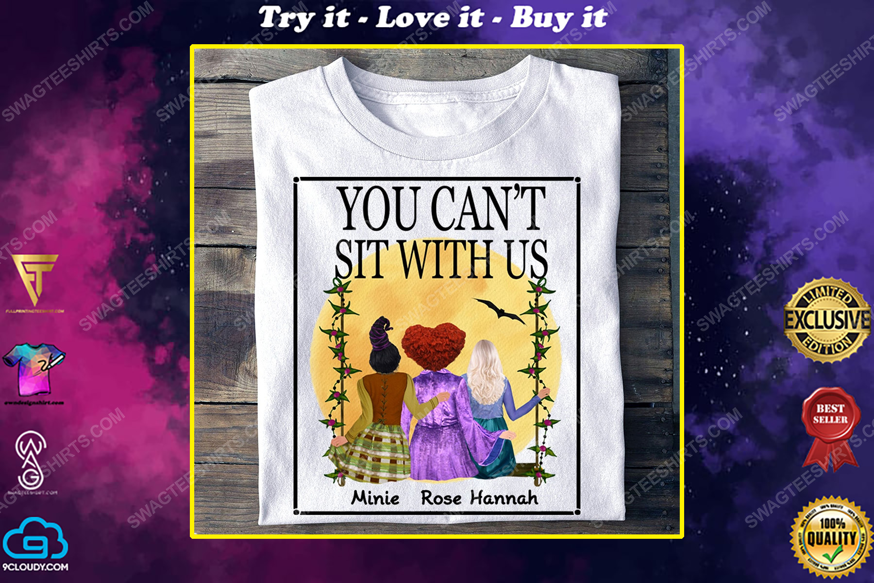 Custom you can't sit with us hocus pocus halloween gift shirt