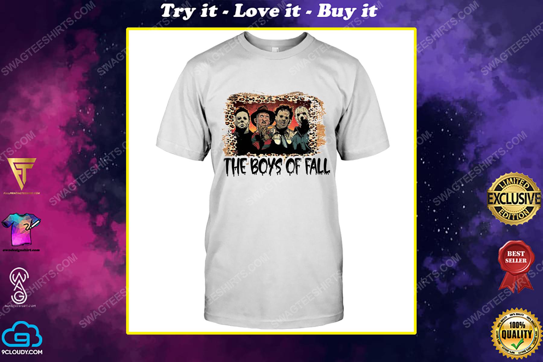 Halloween night horror movie characters the boys of fall shirt