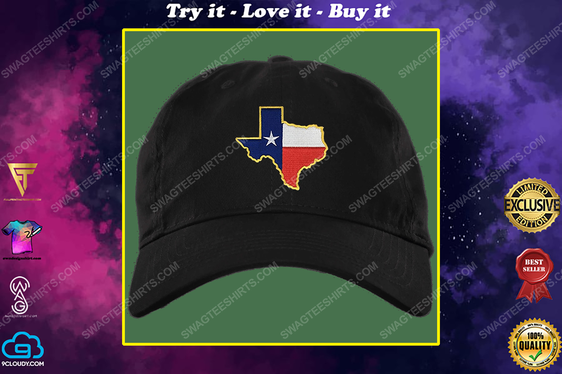 Vintage state of texas texas flag cap