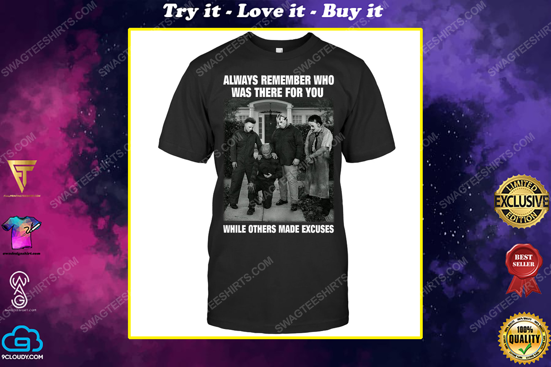 Always remember who was there for you horror characters for halloween shirt