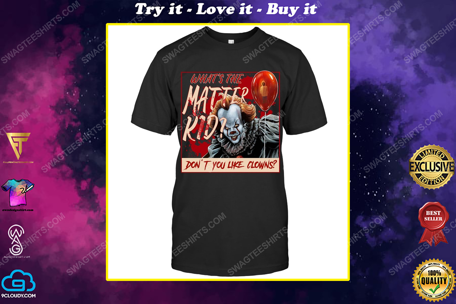 It movie what's the matter kid don't you like clowns shirt