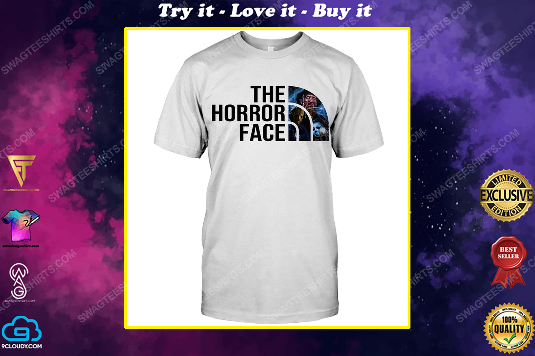 The horror face horror characters for halloween shirt